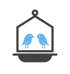 Bird in bird house vector