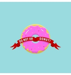 Abstract Donut or Logo in Flat vector image