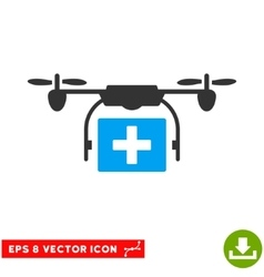 Ambulance Drone Eps Icon vector image vector image