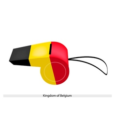 Black Yellow and Red Stripe on Belgium Whistle vector image