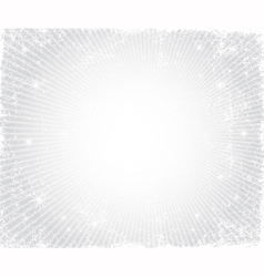 Christmas grunge silver frame vector image vector image
