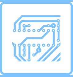 Circuit board icon vector