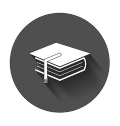 Education and book flat icon with long shadow vector