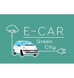 Electric car banner vector