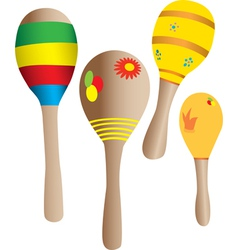 Four Maracas vector image