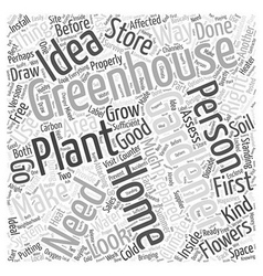 Greenhouse gardening word cloud concept vector