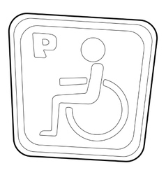 Handicap parking or wheelchair parking icon vector image