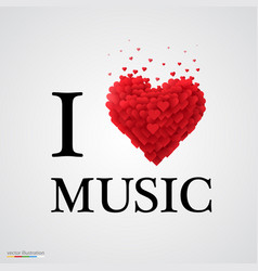 i love music heart sign vector image