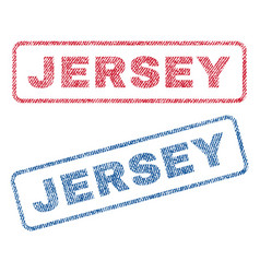 Jersey textile stamps vector
