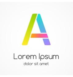 Logo letter A company design template vector image vector image
