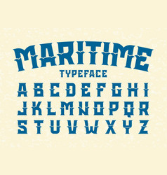Maritime style typeface vector