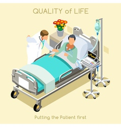 Patient visit 01 people isometric vector
