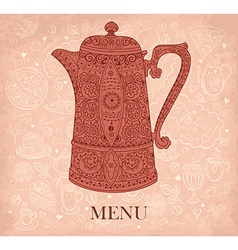 Pattern menu for cafe vector image vector image