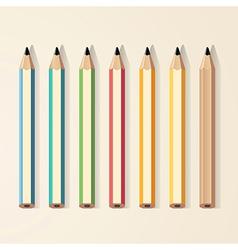 pencils color vector image vector image