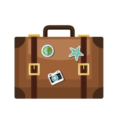 Retro travel luggage vector