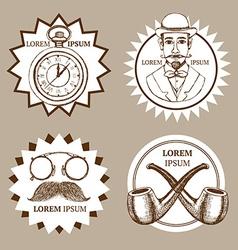 Sketch set of gentlemans vector image vector image