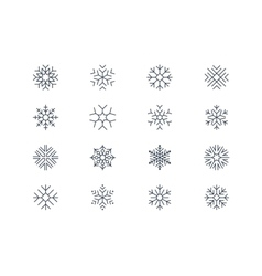 Snowflake icons 5 vector image vector image