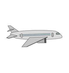 Toy airplane child vector