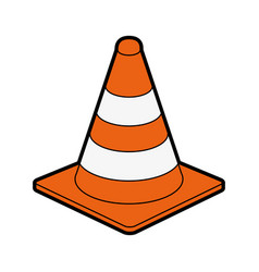 Traffic cone under construction related icon image vector