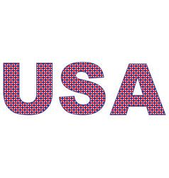 Usa polka dots vector