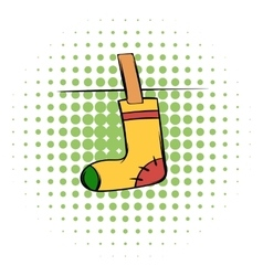 Yellow sock comics icon vector