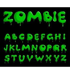 zombie alphabet vector image