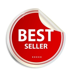 Best seller label sticker vector image