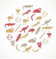 Australian icons vector image
