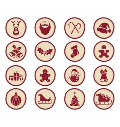 Christmas winter badges and design elements with vector