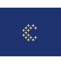 Stars letter c logotype luxury abc icon vector