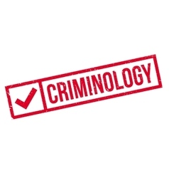 Criminology rubber stamp vector