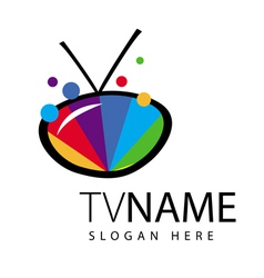 Logo screen tv color range vector