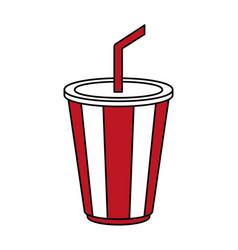 Delicious soda cup icon image vector