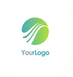 Round sphere loop logo vector