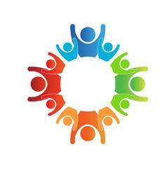 Circle of Families Logo vector image