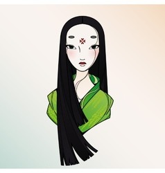 Beautiful Japan Girl vector image