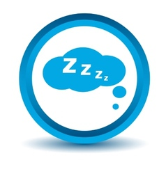 Blue sleep icon vector