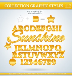 Sunshine Graphic Style for Design vector image