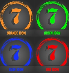 Number seven icon sign fashionable modern style in vector