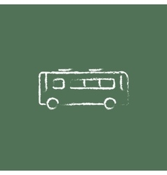 Bus icon drawn in chalk vector