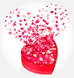 Valentines hearts background vector