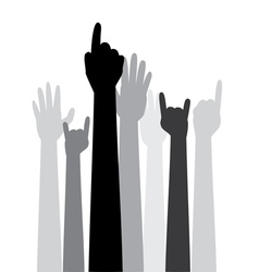 Cartoon hands with gestures3 vector