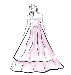 Beautiful young bride vector