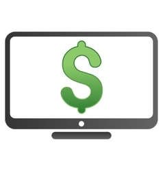 Monitor price gradient icon vector