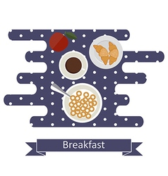 Concepts for breakfast time vector