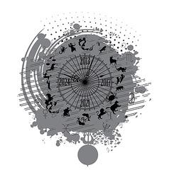 astrology calendar clock background vector image vector image