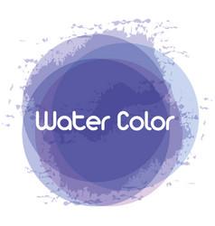 Blue watercolor art paint vector