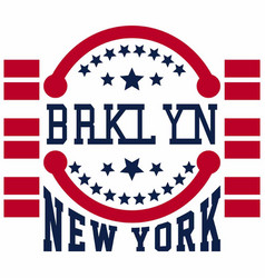 Brooklyn new york vector