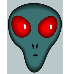 Cartoon alien head vector