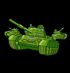 cartoon tank vector image
